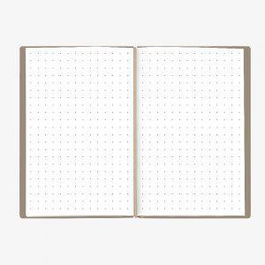 Bullet Journal Beige White 13x21
