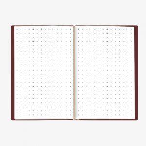 Bullet Journal Bordeaux White 13x21