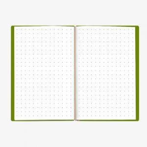 Bullet Journal Verde White 13x21