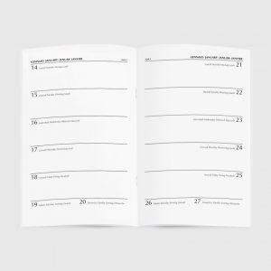 Journal Bianco Diary Aperti 13x21